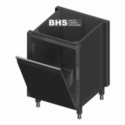 Module with large drawer for waste bin