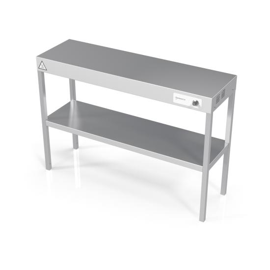 Upper shelf for table